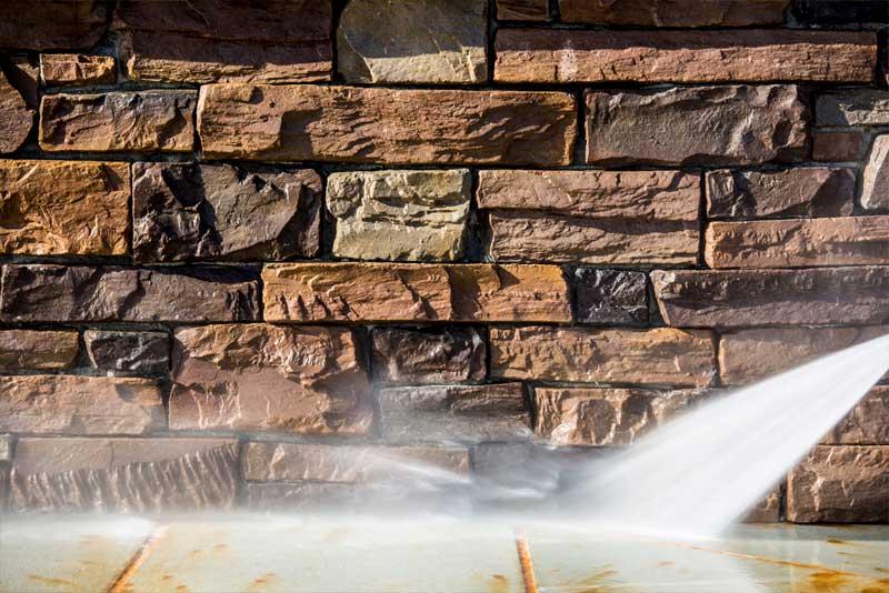 Glide Rite Carousel 4 Pressure Washing Stone Wall